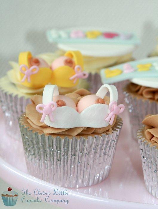 Cheeky Little Boob Cupcakes!