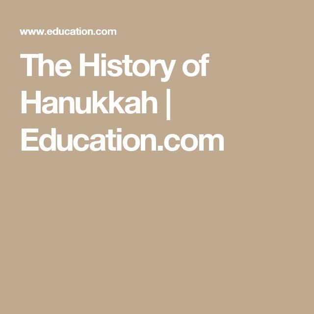 The History of Hanukkah | Education.com