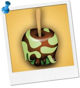 Camouflage Chocolate Apples