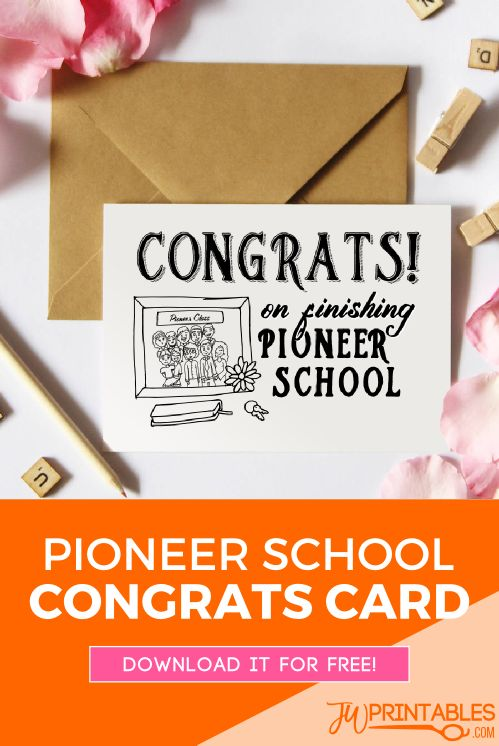 The perfect card for a pioneer school graduate! #jw