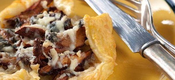 Torta salata Zucca Funghi Formaggio