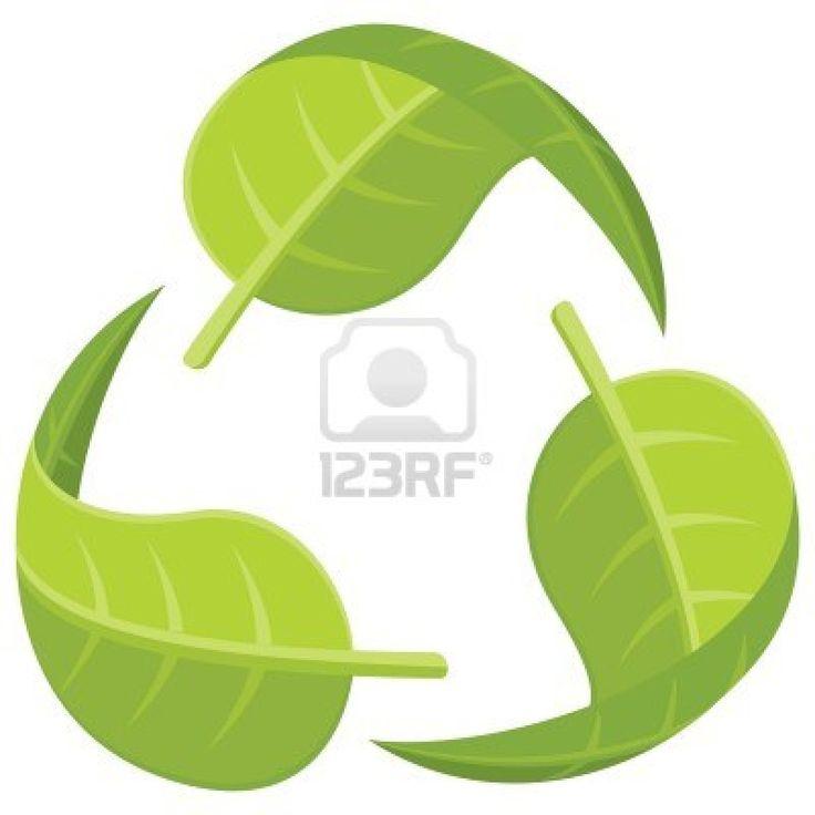Logo reciclaje , relfejando el retorno de este a través de hojas, haciendo alusión a la ecología