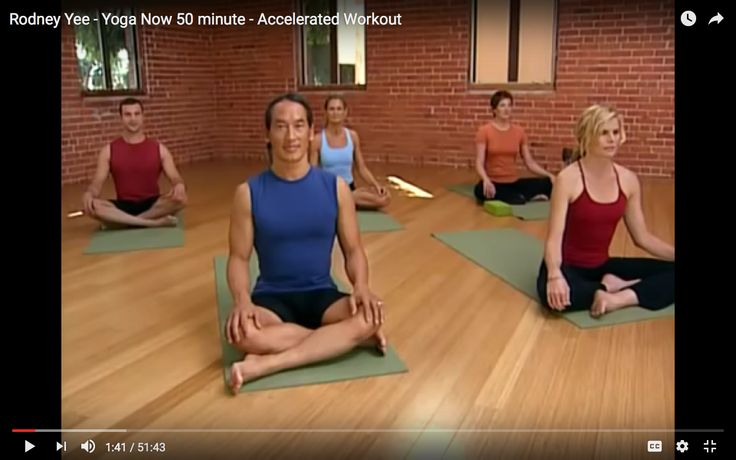 Rodney Yee - Yoga Now 50 minute - Accelerated Workout  FREE on YouTube. Workout begins at 1:41.