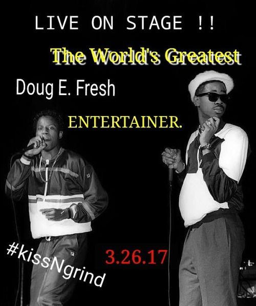 Start your 3-Day Weekend off RIGHT with the LEGENDARY Doug E.... Start your 3-Day Weekend off RIGHT with the LEGENDARY Doug E. Fresh THIS Friday (May 26th) at Kiss-n-Grind with resident DJ Vikter Duplaix at the Globe Theatre in Downtown #LA.  Show-up ready to dance ALL-NIGHT-LONG. (10p - 2:30a. 21) Buy your tickets in advance here: http://tix.kissngrind.com  More information on our Facebook event page here:  https://www.facebook.com/events/224547978044767 #ProjectBlowed…