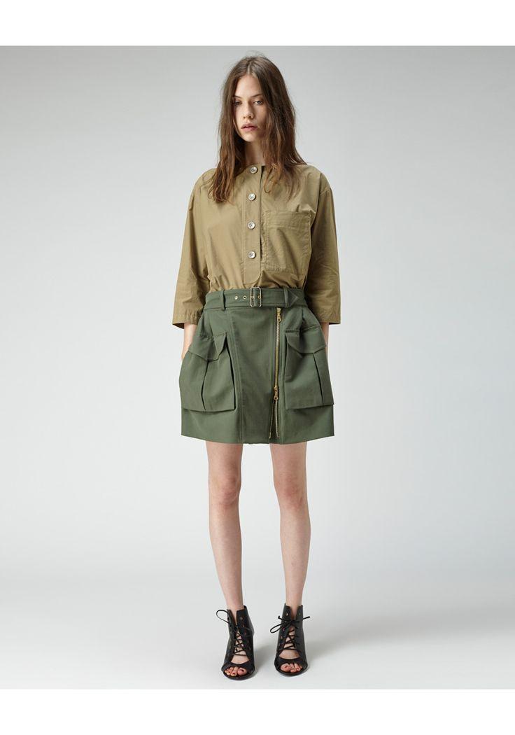 Kenzo short Cargo Skirt/ falda corta con bolsas cargo laterales Kenzo