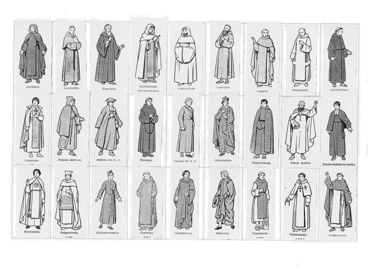 Guide to clerical costumes, including monastic