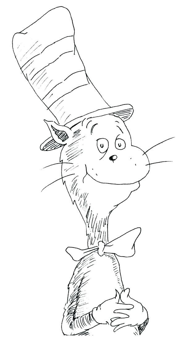 Cat In The Hat Coloring Pages Download Cat In The Hat Color