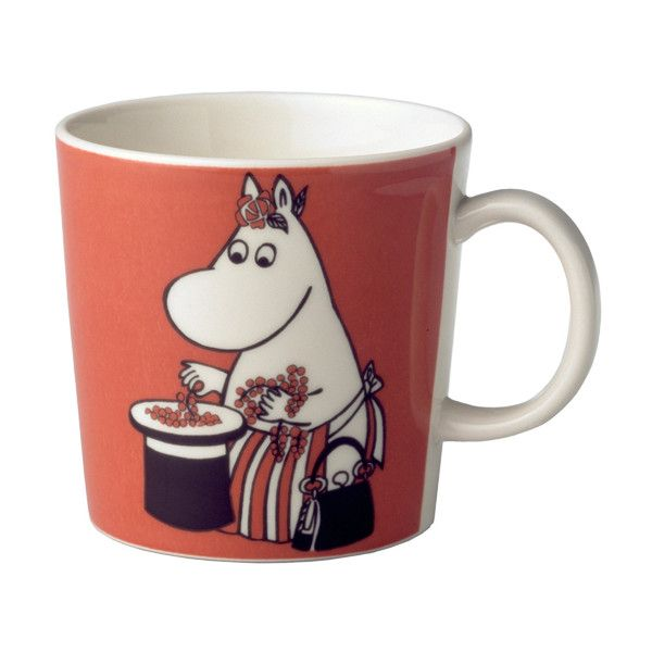 Arabia Moomin mug Moominmamma, red ($20) ❤ liked on Polyvore featuring home, kitchen & dining, fillers, food, objects, cups and kitchen