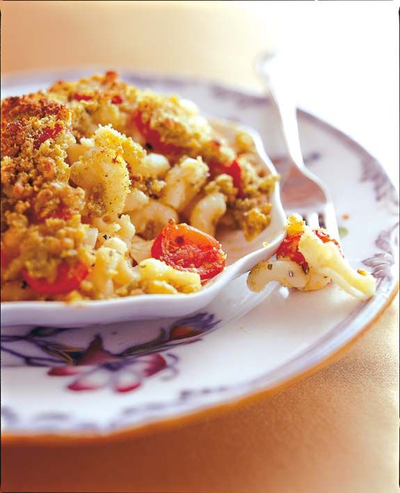 Crunchy macaroni and cheese