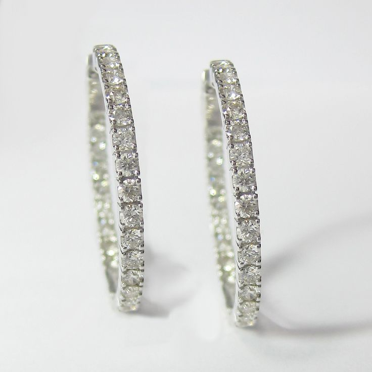 Round Cut Diamond Earrings in 14KT White Gold Setting * FREE SHIPPING on all orders within the USA * Come with Gift Packaging & 30 Days Money Back Guarantee * Rated A+ (Better Business Bureau®) with m