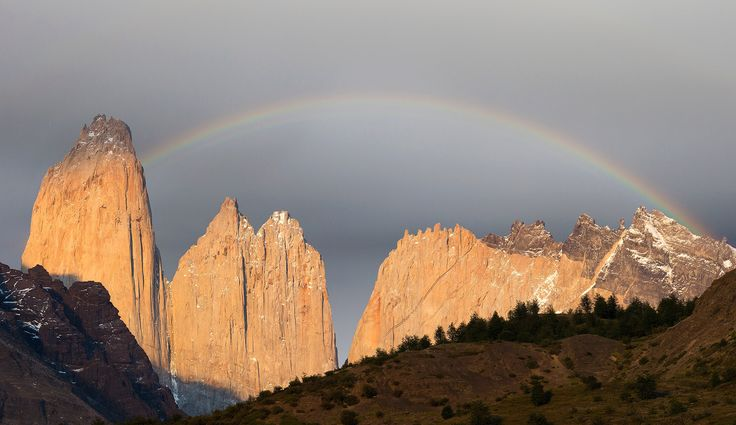 https://flic.kr/p/QPG2N8 | Chile | Chile. Rainbow over Torres del Paine.