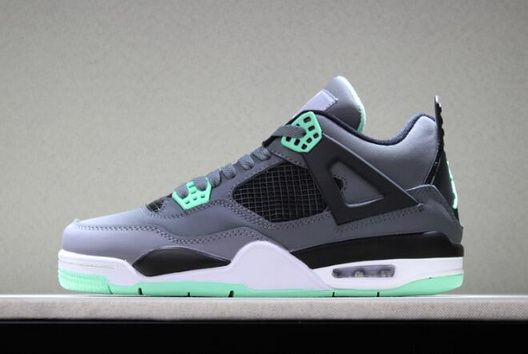 half off 251e9 d9920 ... denmark original air jordan 4 retro green glow dark grey green glow  cement grey black shoes