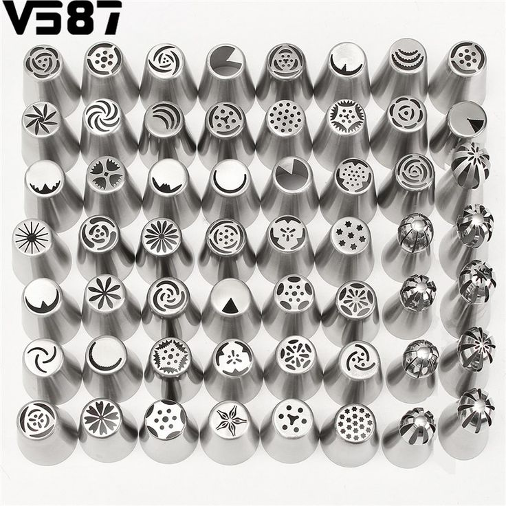 42ピース/セットアイシング配管ノズルのヒントロシアヒント洋菓子ケーキデコレーションデコレーションツールシリコーン用台所ベーキング