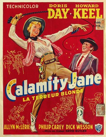 1953 Doris Day musical based on the life of western legend Calamity Jane--some of the best songs & musical numbers put on film. Lesbian subtext done in bright 50's optimism.