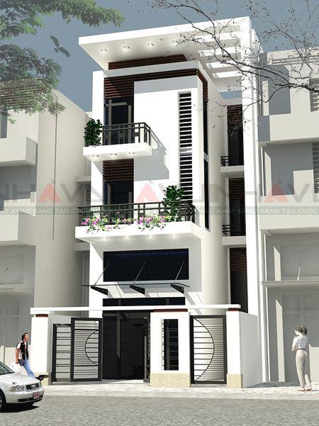 mẫu nhà phố đẹp kiểu dáng hiện đại--thiết kế 7