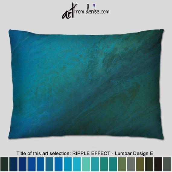 Turquoise Throw Pillows Decorative Teal Green Blue Lumbar