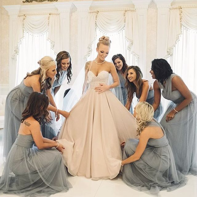 You HAVE to see @macideshanebookout's ridiculously gorgeous wedding photos — Click link in bio and prepare to swoon over this @mtv Teen Mom's nuptials  (And yes, Bentley makes an appearance!) : @brittanyphotographs