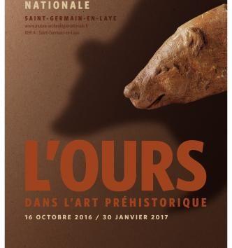 """Exposition """"L'ours dans l'art préhistorique"""" jusqu'au 30 janvier 2017 au musée d'archéologie nationale."""