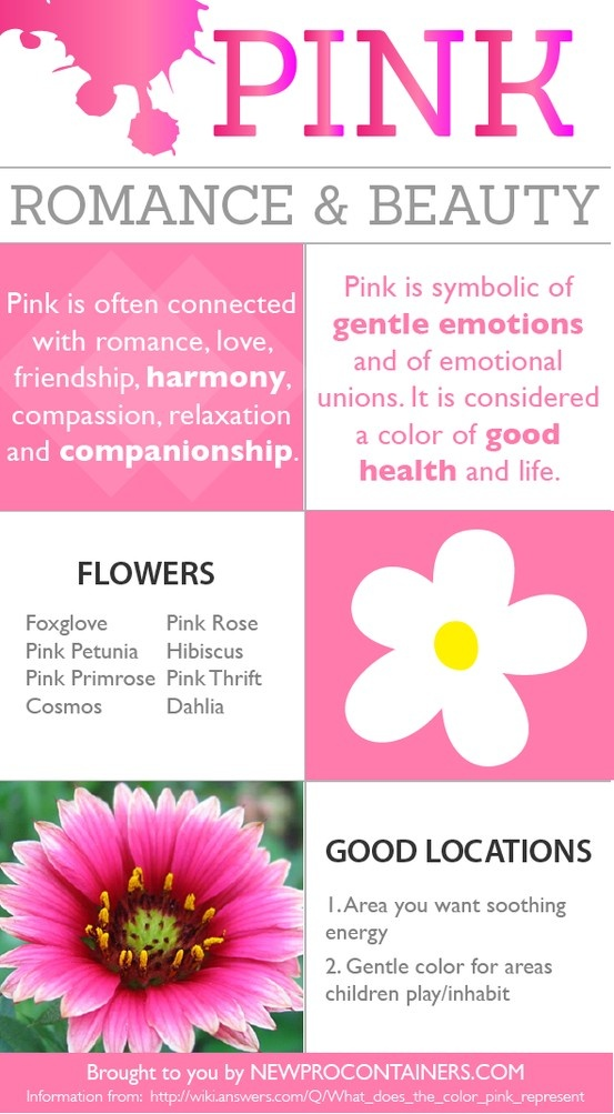 Pink is considered the color of good health and life. Find out more about the color pink by checking out this quick guide.