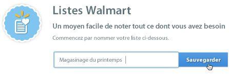 Centre d'aide Walmart.ca : listes achats