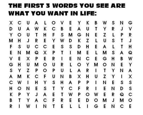 what you want:  don't look at comments if you don't want to be influenced by others words.  mine: Love, Popularity, Honesty
