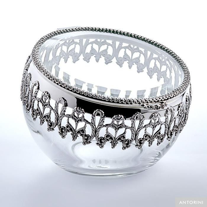 Jar Leonard, silver plated