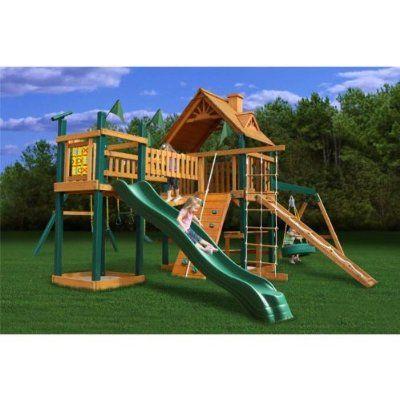 Gorilla Playsets Blue Ridge Pioneer Peak Playground System   Little Green Duckling 2599