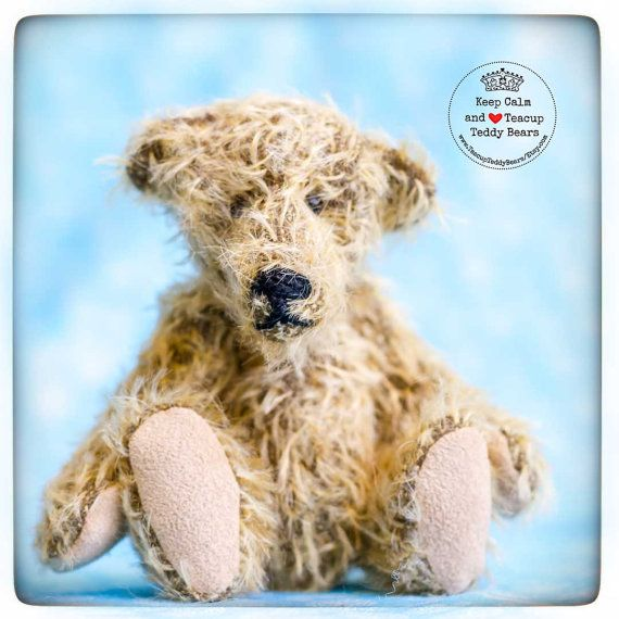 Teddy Bear ELLIS. Handmade OOAK Teddy Bear  by TeacupTeddyBears