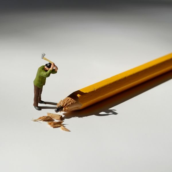 Little People at the Office by Bettina Güber  Hey, what happened to all my pencils?
