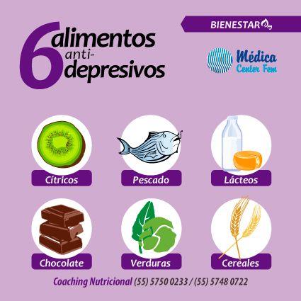6 Alimentos Antidepresivos #TipSalud #Saludable #CoachingNutricional #MedicaCenterFEM http://www.medicacenterfem.com/