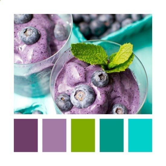 Colors: purple, blue, green. (Also, best 2014 color schemes for the home | stunning color schemes for every room)