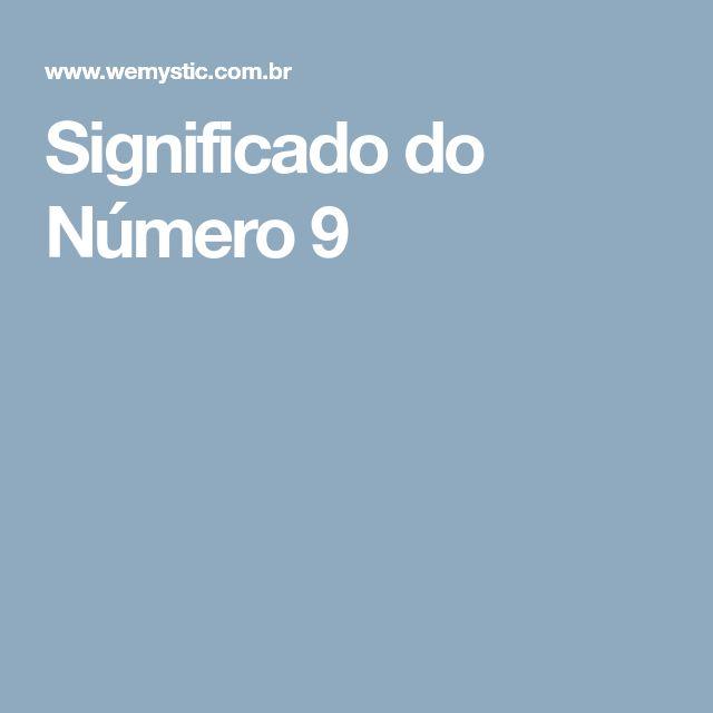 Significado do Número 9