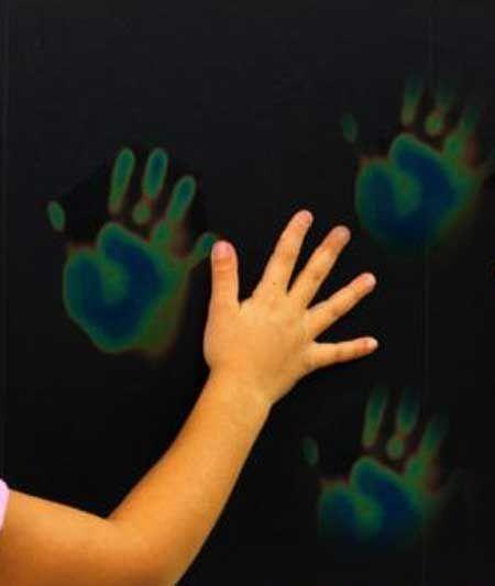 "heat sensitive wall panel ""magic hands activity wall"""