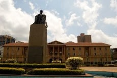 "Nairobi city  was built in 1899, and grew as a central point for the Kenya-Uganda railway    Nairobi comes from the Maasai word, ""Enkare Nyrobi"" meaning the ""place of cool water""  http://www.naturaltoursandsafaris.com/nairobi_day_tour_excursions.php"