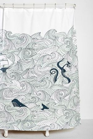 Nora's Whale of a Shower Curtain - Fashionista