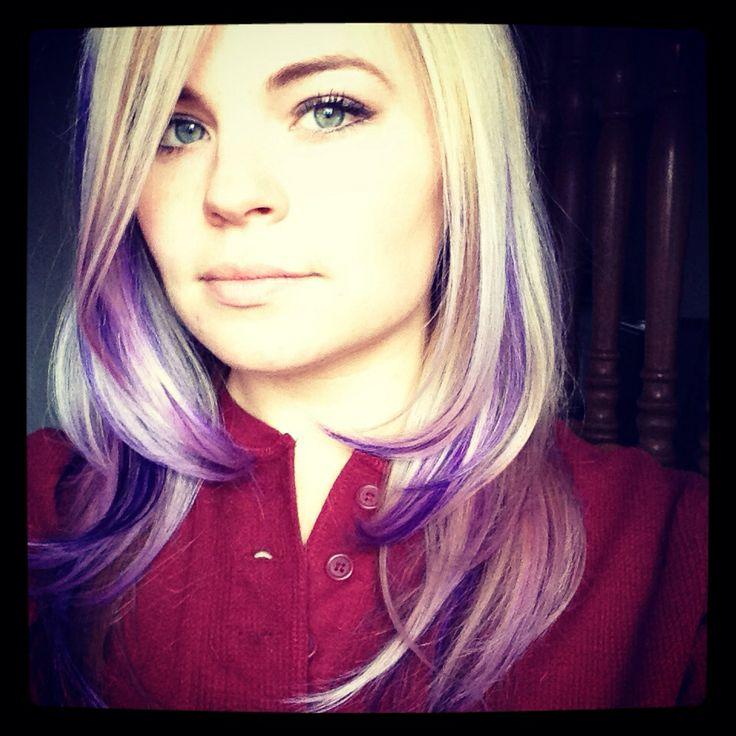 Purple lowlights by Sam Zick from Salon Salon Purple hair