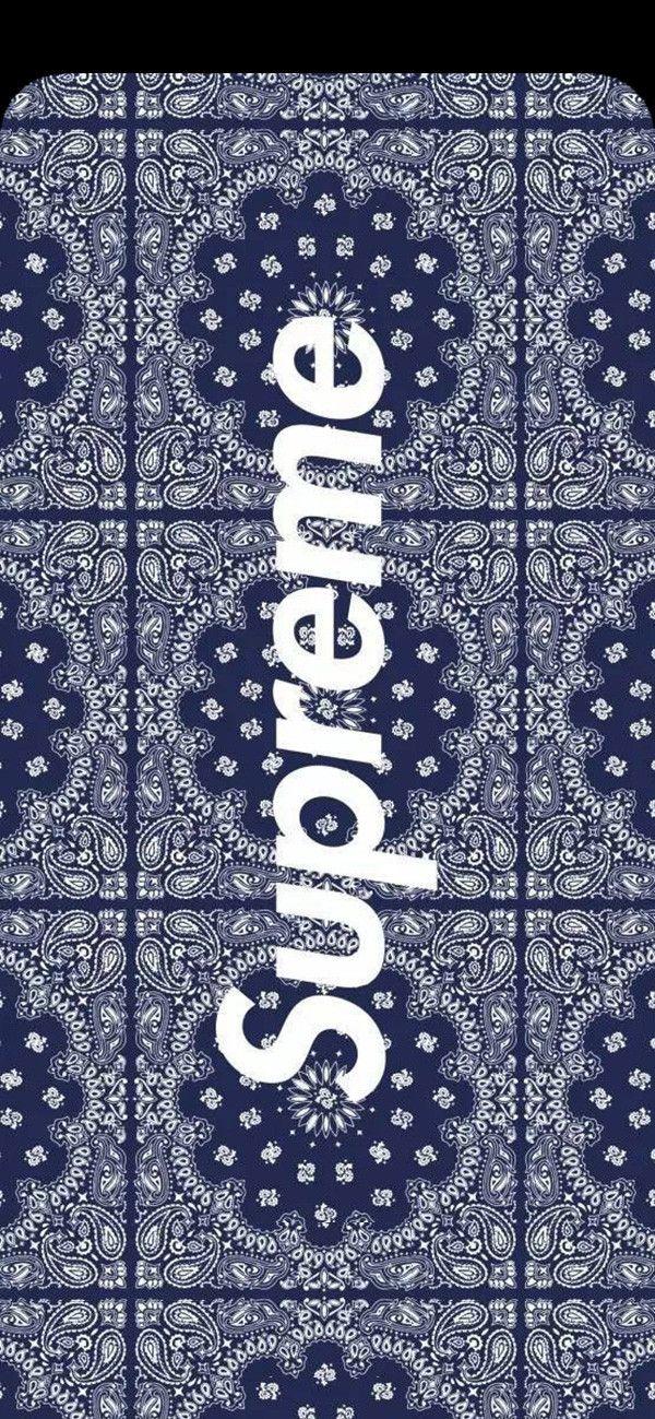 Louis Vuitton Supreme 壁紙 Supreme Blue Wallpaper Notch