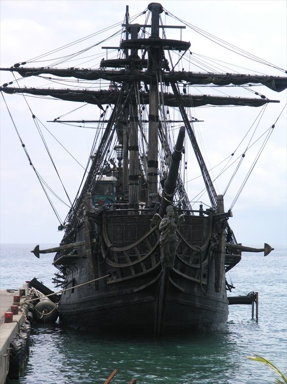 The Black Pearl Pirates of Caribbean Docked