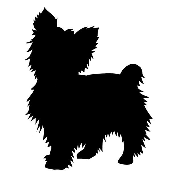 Yorkie Silhouette would love this on my shoulder in memory of Emma she loved sitting in my shoulder when I would drive out of town ♡