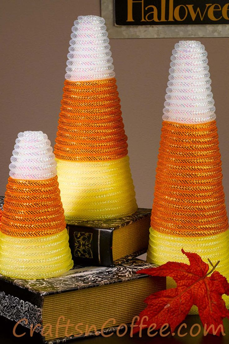 19 Candy Corn Crafts & Decorations for Halloween