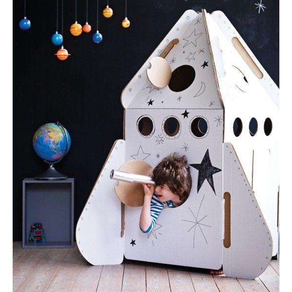 kidsonroof spielzeug aus karton rakete f r kinder. Black Bedroom Furniture Sets. Home Design Ideas