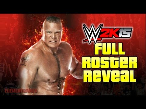 WWE 2K15 : Full Roster reveal, PS4, Xbox ONE, PS3, Xbox 360. - YouTube #followback