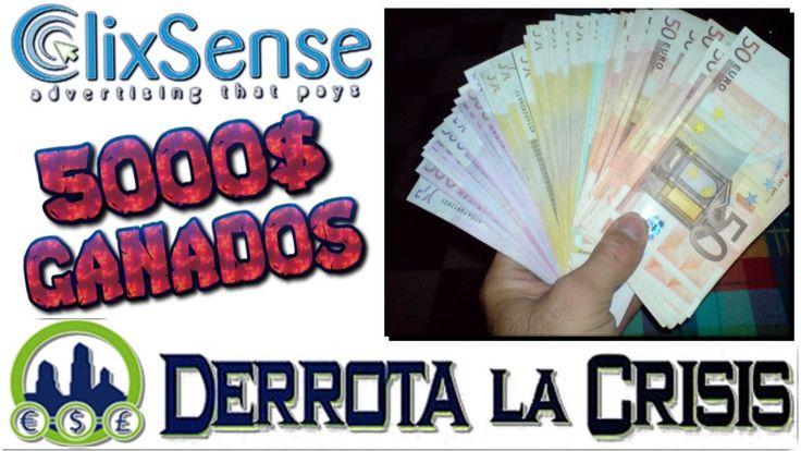 Clixsense, Mas de 5000$ GANADOS !!   Como Ganar Dinero GRATIS en Internet  http://www.derrotalacrisis.com/clixsense-ganar-dinero-viendo-anuncios/?afiliado=marketingcontentnet #ClixSense #PTC #PayToClick #GanarDinero