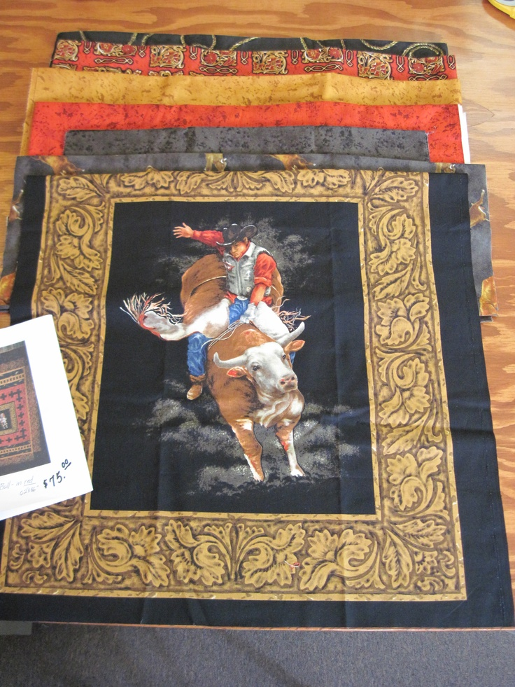 Bull Rider Quilt Kit Makes A 62 Quot X 86 Quot Quilt All Fabric