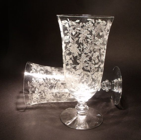 17 Best Images About Etched Crystal Glass On Pinterest Antiques Pewter And Crystal Vase