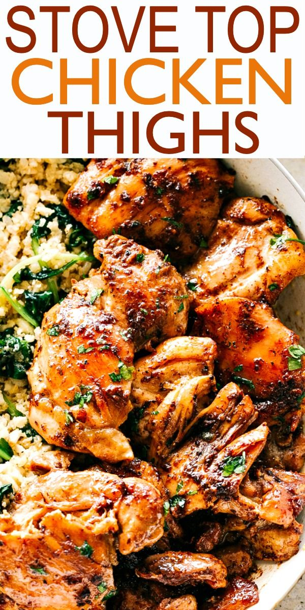 Juicy Stove Top Chicken Thighs Perfectly Golden Tender And Juicy Skinless A Chicken Thights Recipes Boneless Chicken Thigh Recipes Stove Top Chicken Thighs