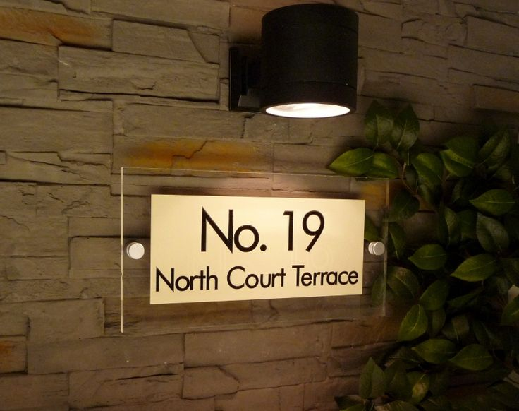 voted 'Best House Plaque of the Year' stunning 'Glass acrylic' sign on grey slate wall