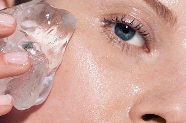 Effets glace sur peau (acné)