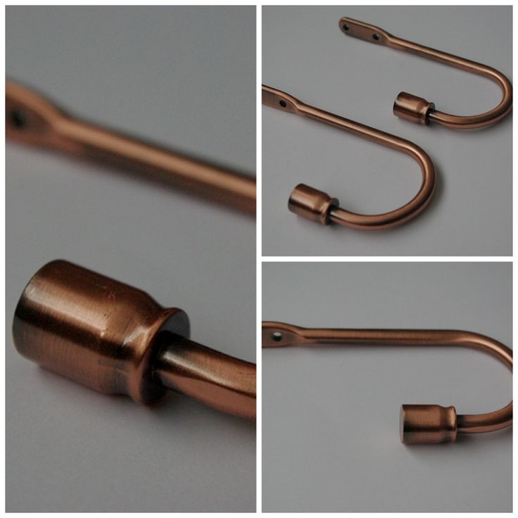 A pair of beautiful copper Classic curtain holdbacks for classic and minimalistic interiors, and there's no other metal with so much elegance and warmth.  The holdbacks are made of extremely high quality metal – they are strong and also are very easy to use. Add beautiful design touches to your home in no time!