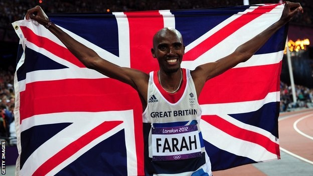Mo Farah - takes Gold for Team GB in 10,000m - he was awesome